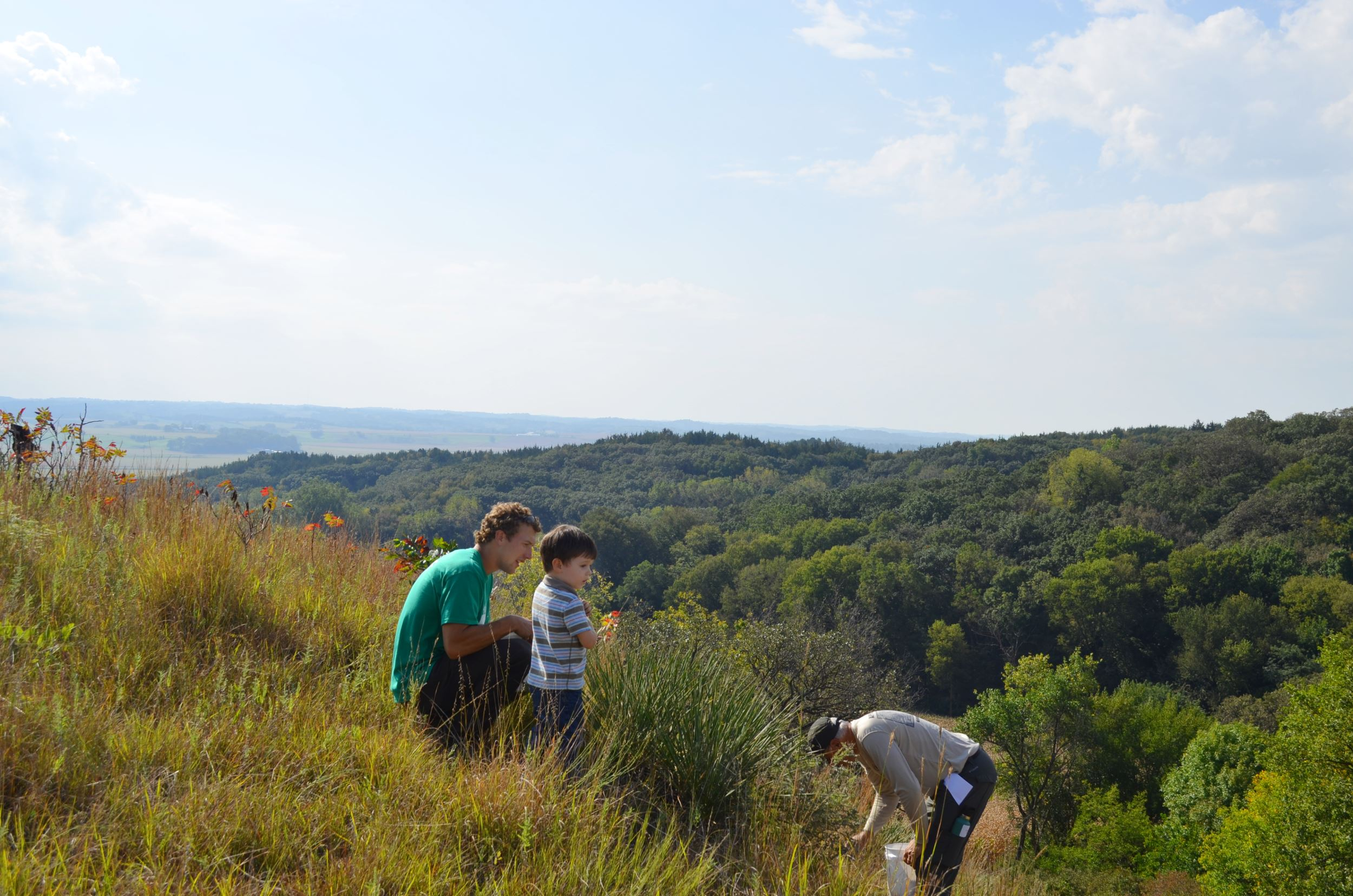People looking out over the Loess Hills