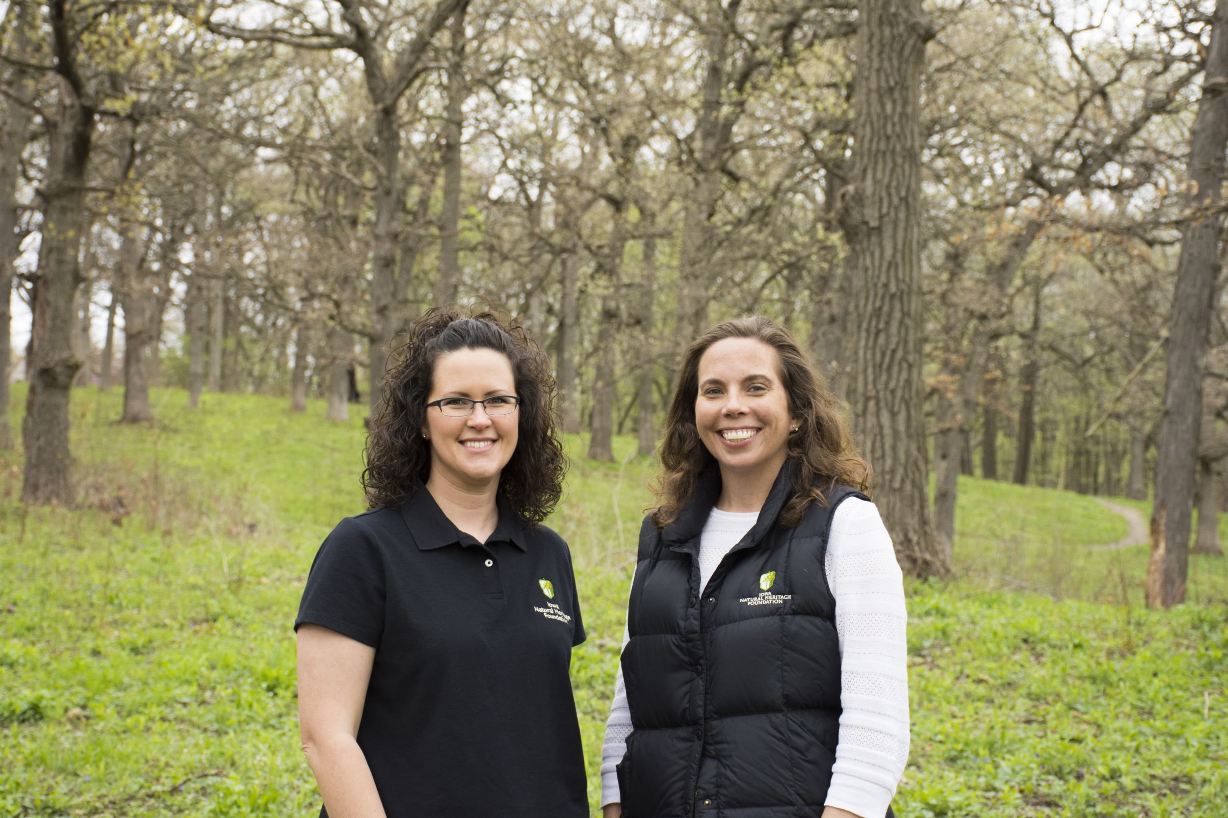 Erin Van Waus and Tylar Samuels make up INHF's new Conservation Easement department.