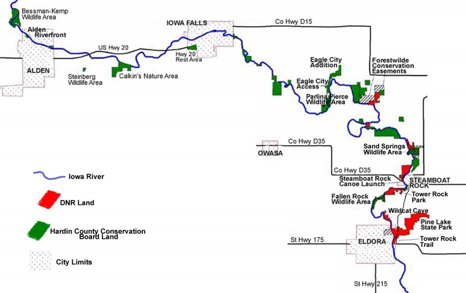 Explore Iowa Iowa River Greenbelt Iowa Natural Heritage Foundation - Iowa river map