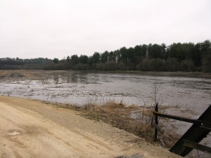 Upper Iowa River flood scene taken by Brian Fankhauser near Chimney Rock on Wednesday, April 10.