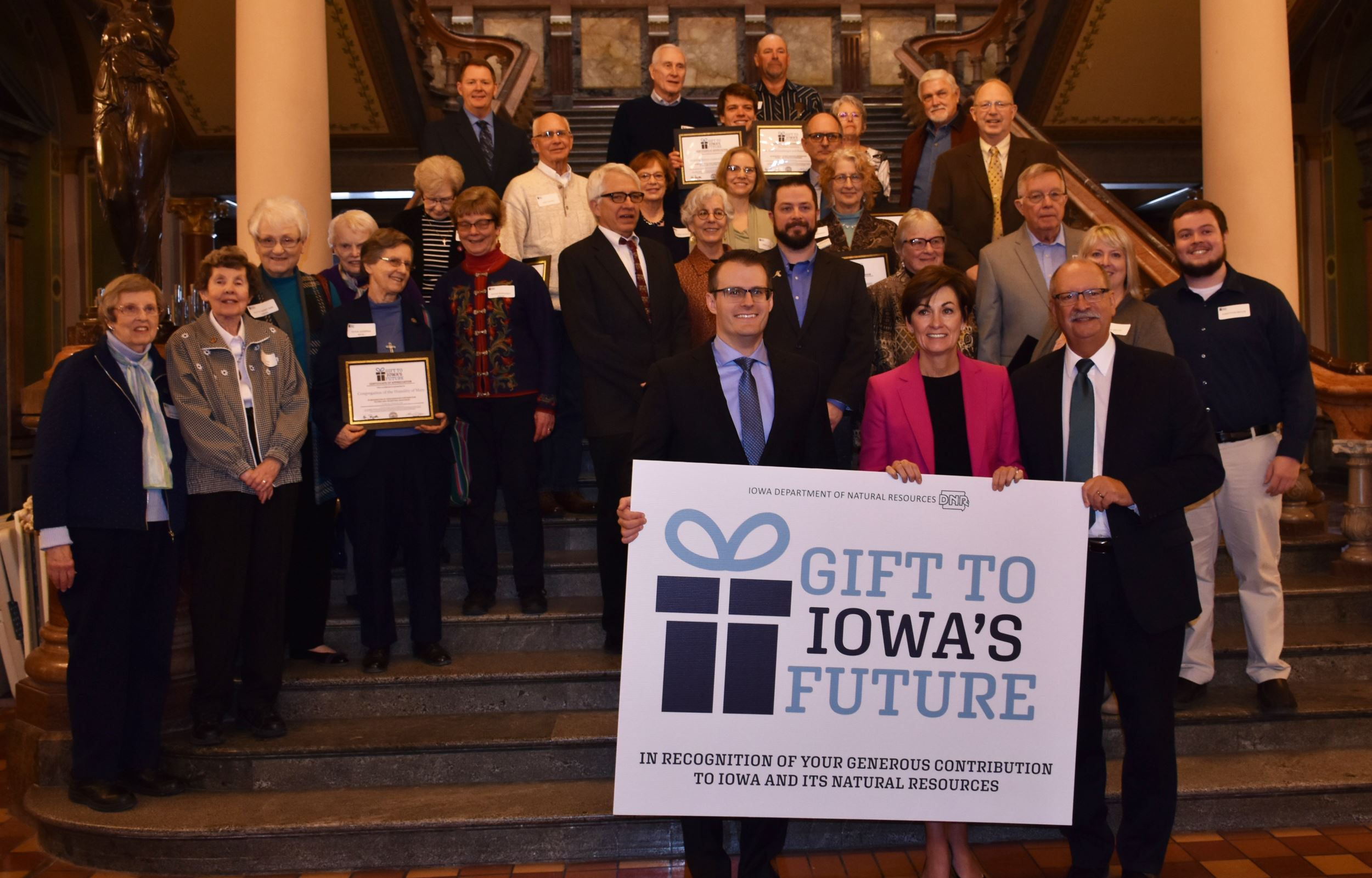 Iowa landowners honored at Capitol