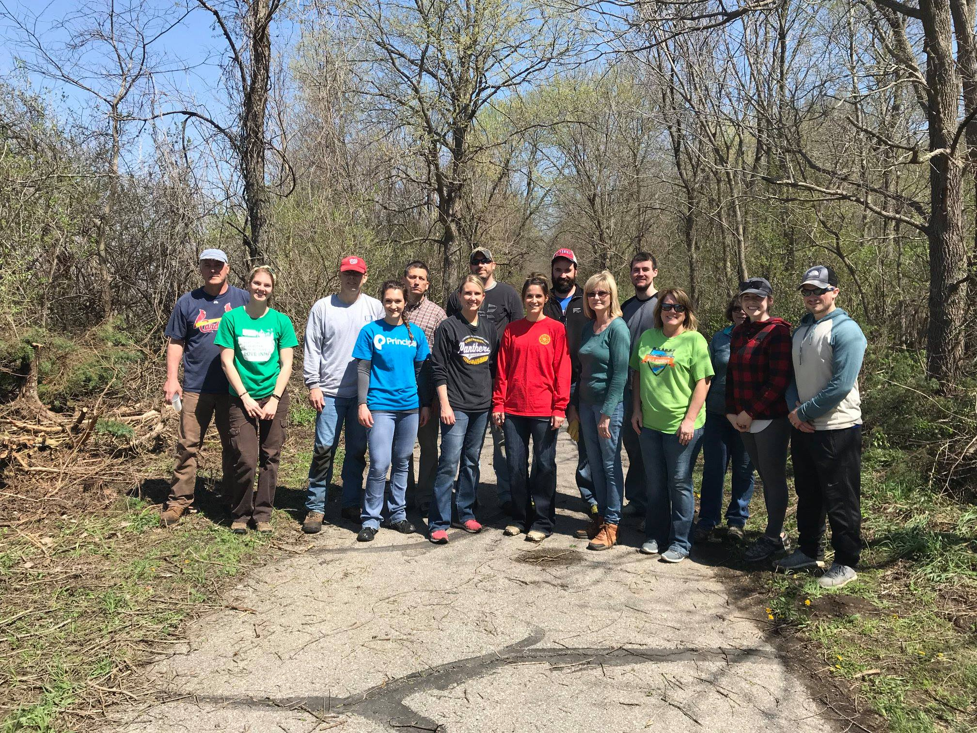 Trail volunteers