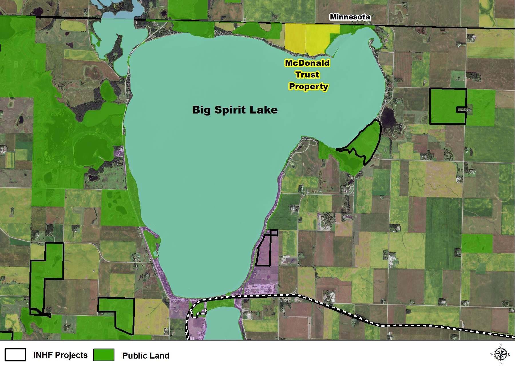 Important land in Iowa Great Lakes watershed protected by INHF