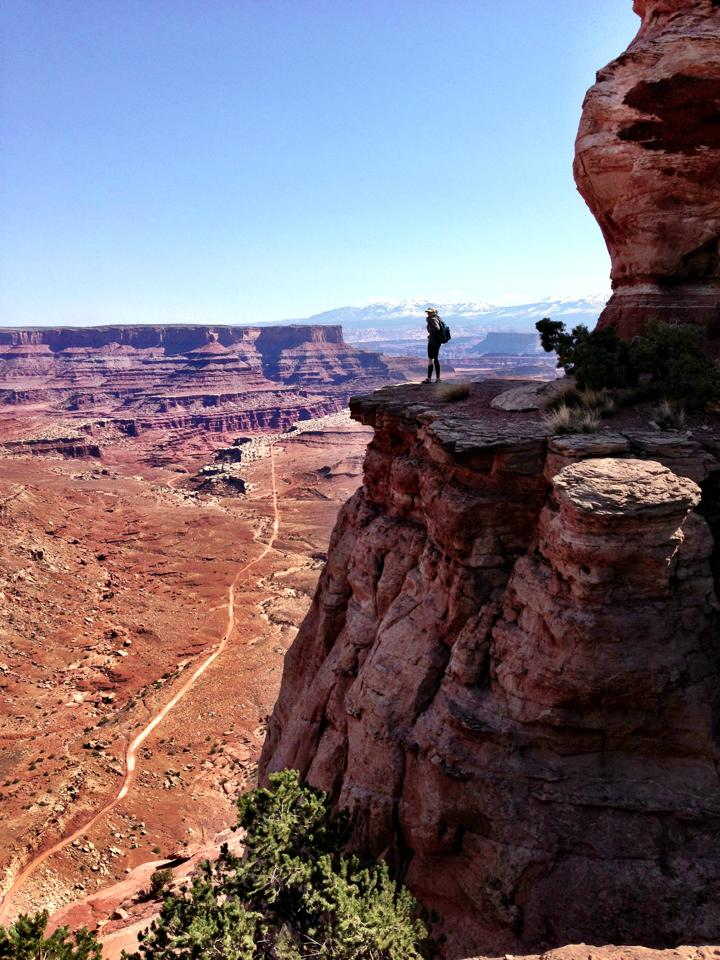 Off trail at Canyonlands National Park.