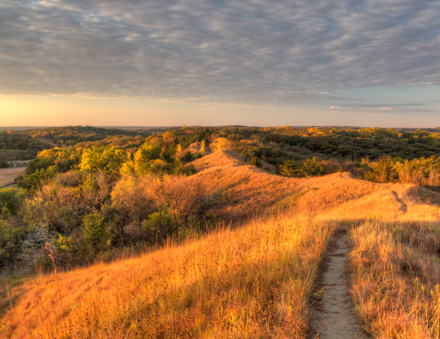 The sun sets over the Loess Hills in Monona County. (Photo by Robert Buman)